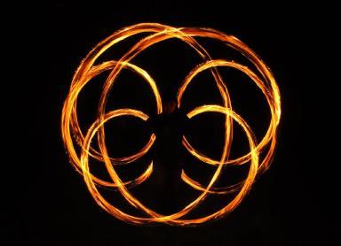Feuerpoi der Flow Arts